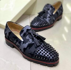 Gentleman Business,Party,Dress Oxford Walking, Elegant Red Bottom Dandelion Sneaker Flat Dandelion Tassel Red Sole Loafer EU38-46
