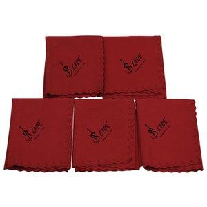 5pcs Chiffons 250x250mm Polish Cloth pour guitare pour violon Cleaner Saxophones, Red Wind