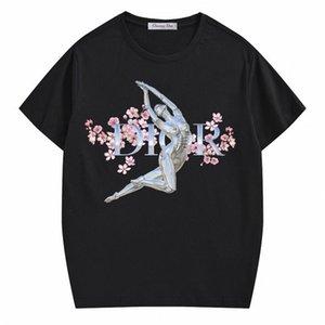 La impresión atractiva del algodón de la camiseta de las mujeres de los hombres y de la camiseta de verano al aire libre Deportes Viajes inconformista Deber de cuello redondo ropa caliente de la venta