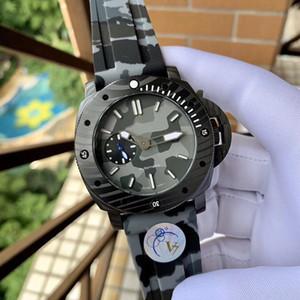 슈퍼 009 MONTRE DE 럭스의 47mm 316L 스테인레스 스틸 사파이어 크리스탈과 가죽 스트랩 브랜드 시계 시계