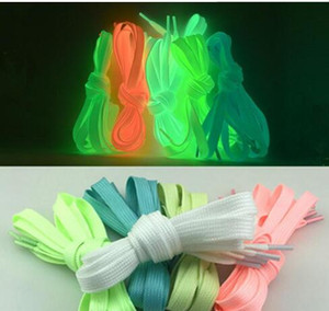 Merletto t Uomini Donne Shoe Laces Glow In The Dark fluorescente shoeslace per scarpe da tennis di tela Scarpe