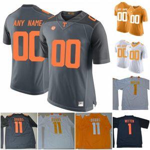 Custom Tennessee Volunteers #6 Alvin Kamara 16 Peyton Manning 1 Jason Witten 14 Eric Berry Orange Gray White 2020 NCAA Football Vols Jersey