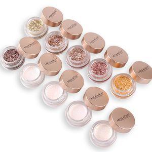 Maquiagem Glitter Creme 10 Cor Shimmer Destaque Única Sombra Exquisite 3D Contorno Bling Sombra de Olho De Geléia Destaques Creme Em Pó 7g