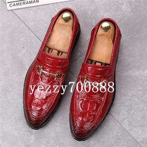 Amazing2019 grãos de couro de crocodilo Pé Tempo Lazer Masculino sapatos Penteado Division One Pedal dawdler Aumentar Shoes fdzhlzj