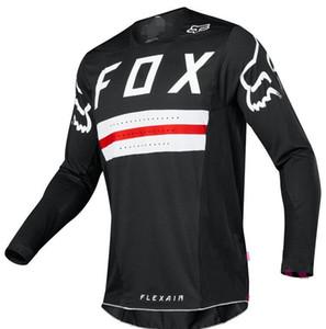 FOX 2020 새로운 여름 긴 소매 야외 크로스 자전거 저지 모터 스포츠 보습 풀오버 의류 빠른 건조 탑을 빠른 건조