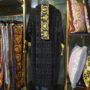 homens roupão de algodão de luxo clássicas das mulheres marca sleepwear quimono roupões quentes roupões de banho desgaste casa unissex klw1739
