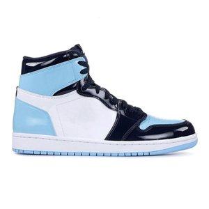 Бесплатный шопинг Иордания ретро 1 ОГ разводят носок Чикаго запретили игру Королевский баскетбол обувь мужчин женщин 1С разрушены межэтажные кроссовки