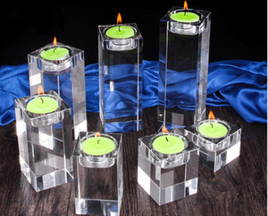 Multi size Home Decorations Candlestick Wedding Crystal Scented Candle Holders Table Centerpieces Bar Coffee Shop Decor Votive Holder YD0545