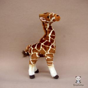 Afrika Prairie Hayvan Peluş Oyuncak Gerçek Zürafa heykelcik Popüler Bilim Günümüze Zoo Memorial Oyuncak kaliteli