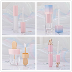 Pink Lip Gloss Tint Plastic Tubes DIY Empty Makeup Big Lipgloss Liquid Lipstick Case Beauty Packaging R0414
