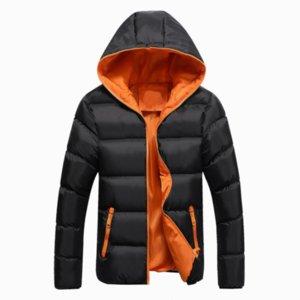 Erkekler kukuletalı yastıklı pamuklu giysiler kış renk eşleştirme pamuk giyim büyük boy 4XL eğlence sıcak Japon erkekler