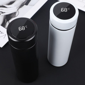 Water Bottles Smart Mug Temperature Display Vacuum Stainless Steel Water Bottle Kettle Thermo Cup With LCD Touch Screen for student BY DHL