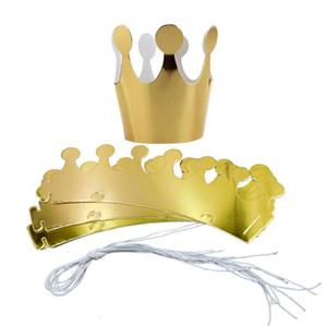 Kinder Erwachsene Happy Birthday Papier Crown Hats Cap Prinz Prinzessin Crown Party Dekoration für Jungen Mädchen Silber Rotgold Krone