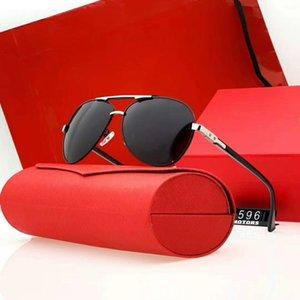 Gafas de sol para hombre del verano de la playa Adumbral UV400 anteojos de coche 596 5 opciones de color de alta calidad con la caja