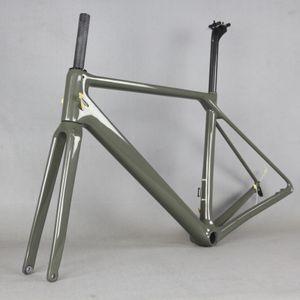 hızlı teslimat süresi! süper hafif düz fren mavi siyah mat veya parlak kaplama bisiklet karbon çerçeve yol, ücretsiz EMS montaj