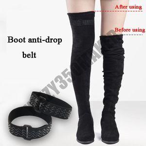 Diz karşıtı damla sihirli cihazın üzerinde Boot karşıtı damla kemer yüksek çizmeler yüksek çizmeler uzun çizme iz kaymayı önleyici olmadan sabit elastik kemer yapıştırın