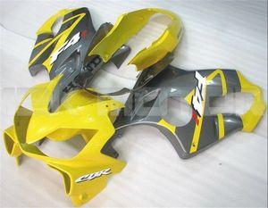 Carenados nuevo Moldeo por inyección de ABS motocicleta kits de ajuste para HONDA CBR600RR F4i 2004 2005 2006 2007 CBR 600RR F4i libre de la aduana Amarillo Gris