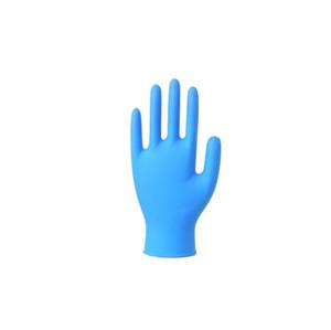 Luvas luvas descartáveis azuis nitrílica de limpeza Universal Doméstico Jardim Limpeza 9 polegadas Glove