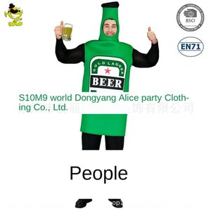 Big Acting bottle male beer bottle jumpsuit Beer Festival spoof cosplay party clothing role play clothing
