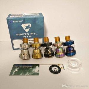 Os mais recentes MANTA MTL RTA Clone substituíveis Tanque Atomizers Single Coil vaporizador 2 ml / 3 ml com 510 Drip Tip Fit MODS alta qualidade Hot Sale DHL