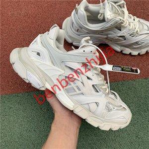 Balenciaga shoes 2020 del progettista di lusso degli uomini pattini casuali delle donne Track 2 scarpe da tennis 19FW bianco Track2 sneakers jogging hococal lace-up 3M Triple S
