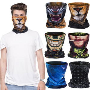 3D Skull Ski Cycling Snowboard Scarf Neck Warmer Face Mask Headwear Wraps Men Skull Ghost Neck Gaiter Tube Balaclava Face Mask