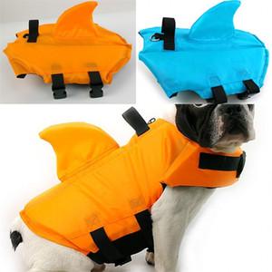 Акула Тип Животные Спасательные жилеты Большие и маленькие плавники для плавников Собака Майор Куртка горячая распродажа с синим желтым цветом 23wy J1