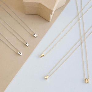 Plata Oro Color 26 Carta inicial Gargantilla Collar Para Mujeres Colgante personalizado Collar Accesorios de joyería de verano
