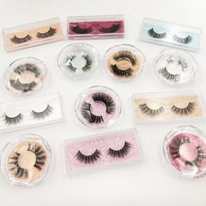 3D Mink cílios falso vison cabelo pestana Natural longos e grossos Cruz Eye lash extensão Eye Lashes com caixa Maquiagem Tool GGA3043-1