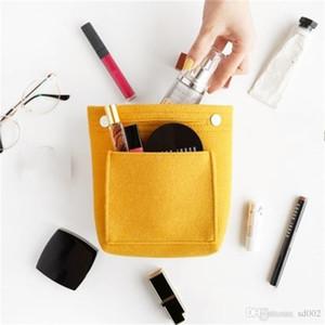 Мода пакет Примеси Устройство хранения Войлок Liner Pure Color Многофункциональный Speedy сумка Cosmetic Пряжка Wrap Корзина 8 5dcB1