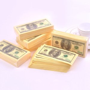 20 Pcs 100 Dollar Humour Paper Bill Toilet Paper Roll Napkins Thick 3 Layers Bathroom Pocket Tissue Paper Party Supplies M7