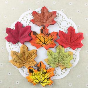 Decoração de Festa de Casamento 100pcs Flor Artificial Falso queda Maple Leaf Garland Silk Vine
