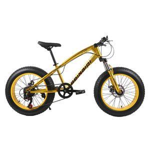 20-Zoll-Fett Fahrrad Kinder Kind Fett Reifen Mountainbike Beach Cruiser Fahrrad hochwertigen Kohlenstoffstahl Scheibenbremse großes Rad MTB