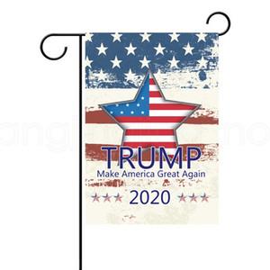 USA 선택 2020 대통령 지원 야외 장식 파티 호의 소품 배너 30 * 45cm TRUMP 정원 플래그를 13styles FFA4017-8