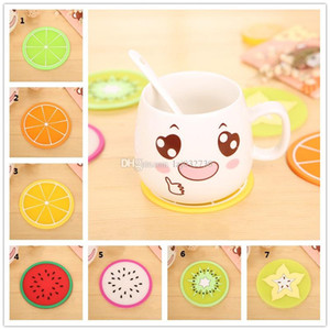 Fruit pattern Shape Cup Coaster Tea Coffee Cup Mat Table Decor Durable Pretty Drink Accssary A417