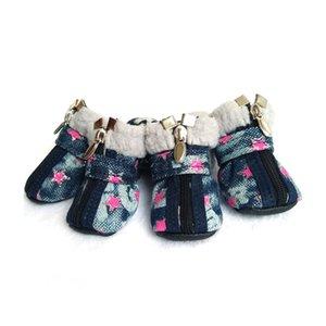 Zapatos perro ambiental Gato botines calcetines de goma impermeable Gatos de invierno de calzado Botas Set Animales productos para perros pequeños al aire libre