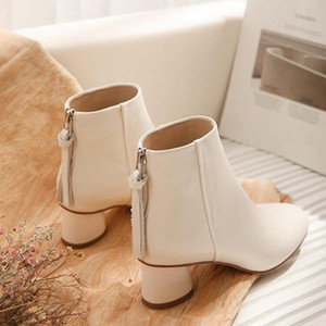 Hot Sale-leather non-slip luxury high quality ankle boots running fashion pointed party motorcycle shoes designer shoes 35-41