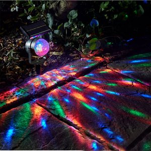 LED Solar Rotating Projection Lamp Waterproof Colorful Light Solar Rotating Lawn Lamp Yard Lamps Laser Light Outdoor Decoration VT0330