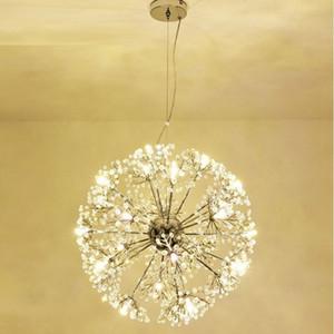 Modern LED Crystal Pendant Lamp Dandelion Chandelier Light Fixture For Dining Room Bedroom Lustres de Cristal AC110V~240V