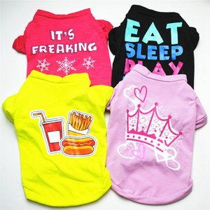 Soft Puppy Dogs Clothes Cat T-Shirt Cute Pet Dog Clothes Cartoon Pet Clothing Summer Shirt Casual Printed Vests For Small Pets