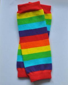 9Inch Newborn leg warmers Baby cotton colorful stripes leg warmers socks arm warmers 10styles
