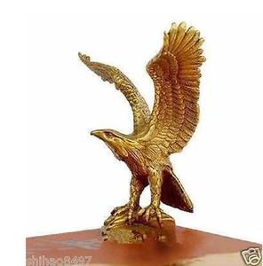 """Pequena estátua de bronze de bronze águia / Hawk figura Figura 4.5 """"alta decoração do jardim 100% latão de bronze real"""