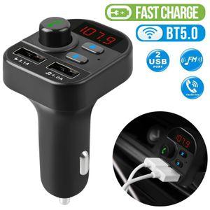 Accessori per auto presa accendisigari Bluetooth In-Car senza fili Trasmettitore FM Radio MP3 Car Adapter Kit 2USB Caricatori da auto