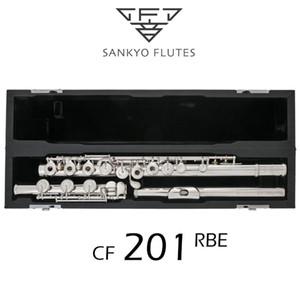 Professionelle Sankyo CF201 FLUTE ETUDE C Key E Split Silber plattiert Flute C Ton 17 Löcher öffnen Flute Französisch Buttons Kopieren