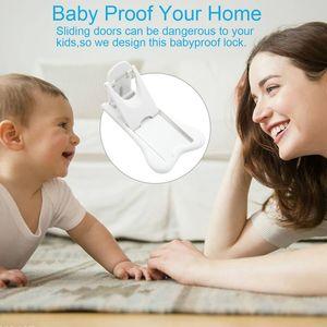 Porta de Correr Lock para segurança da criança, Baby bloqueio prova para Pátio, Roupeiro, Duche, Janela, Roupeiro, Childproof armário da cozinha Cabin