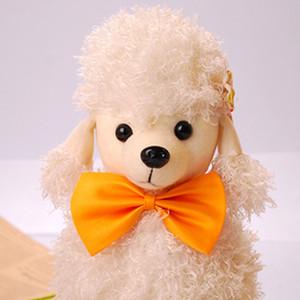 Decoración para mascotas Collar Tie Dog Grooming Accesorios Ajustable Tie Rabbit Cat Dog Collar Tie Pet Dog Puppy Lovely Bow Color sólido BH0274 TQQ