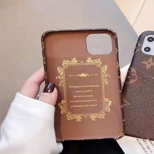 Top Fashion Designer casse del telefono per iphone 11 Pro X XS Max XR Card Cover in pelle PU supporto per iPhone 12 7 8 più Telefono Caso