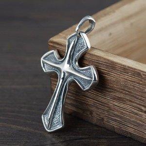 Pendentif croix orthodoxe argent 925 pour les hommes Viking Bijoux Saint Piedras Naturales