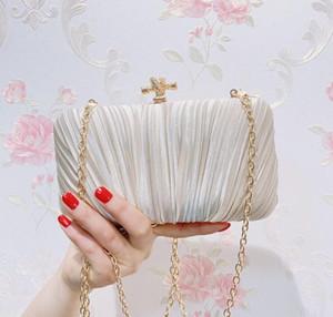 2020 신부 웨딩 새틴 이브닝 가방 레이스 꽃 날 파우치 레이디 메신저 어깨 가방 여성 핸드백 레이스 클러치 파티 가방