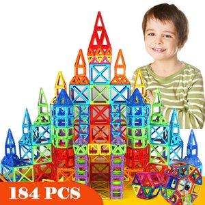 New'in 184pcs Mini Manyetik Tasarımcı İnşaat Seti Model Oluşturma Oyuncak Plastik Manyetik Bloklar Eğitici Oyuncaklar İçin Çocuk Hediye